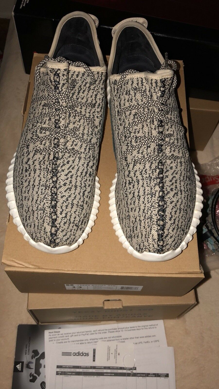 Adidas yeezy boost 350 turtle dove size 13 100% authentic yeezy boost
