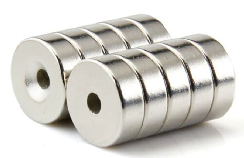 50pcs Ring Countersunk Strong Magnets Neodymium 12 X 5 mm Hole 4mm Rare Earth