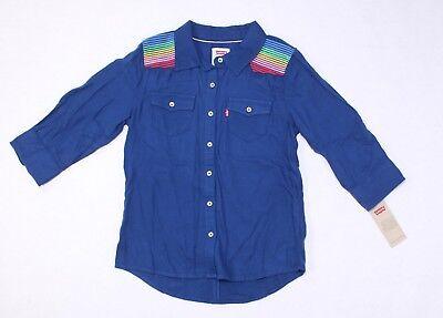 Vintage Blue Button Up Top sz 1012