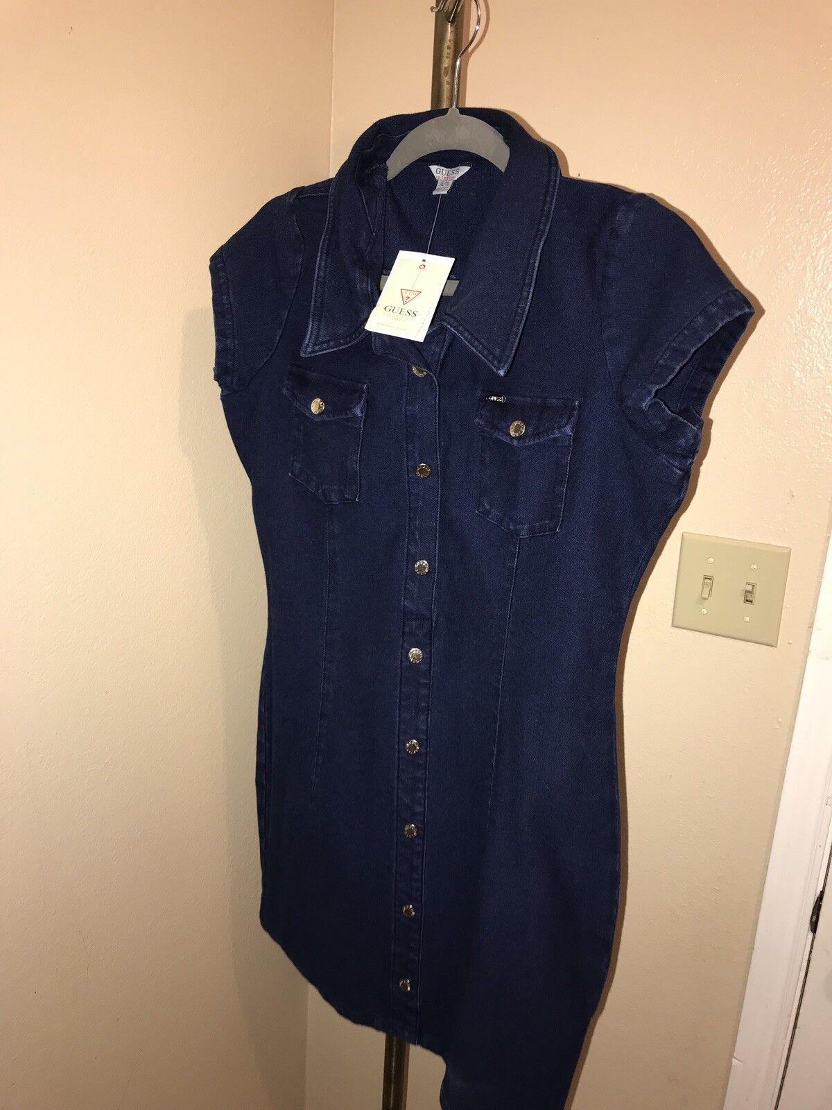 GUESS ARABELLE KNITDIGO DRESS XL