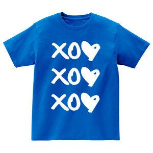 Ansaveh-034-XOXO-034-Kids-Round-neck-Statement-Shirt-Choose-Any-Color