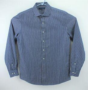 186d4d6c Tommy Hilfiger Men's Slim Fit Blue Striped Button Up Shirt / Size 16 ...