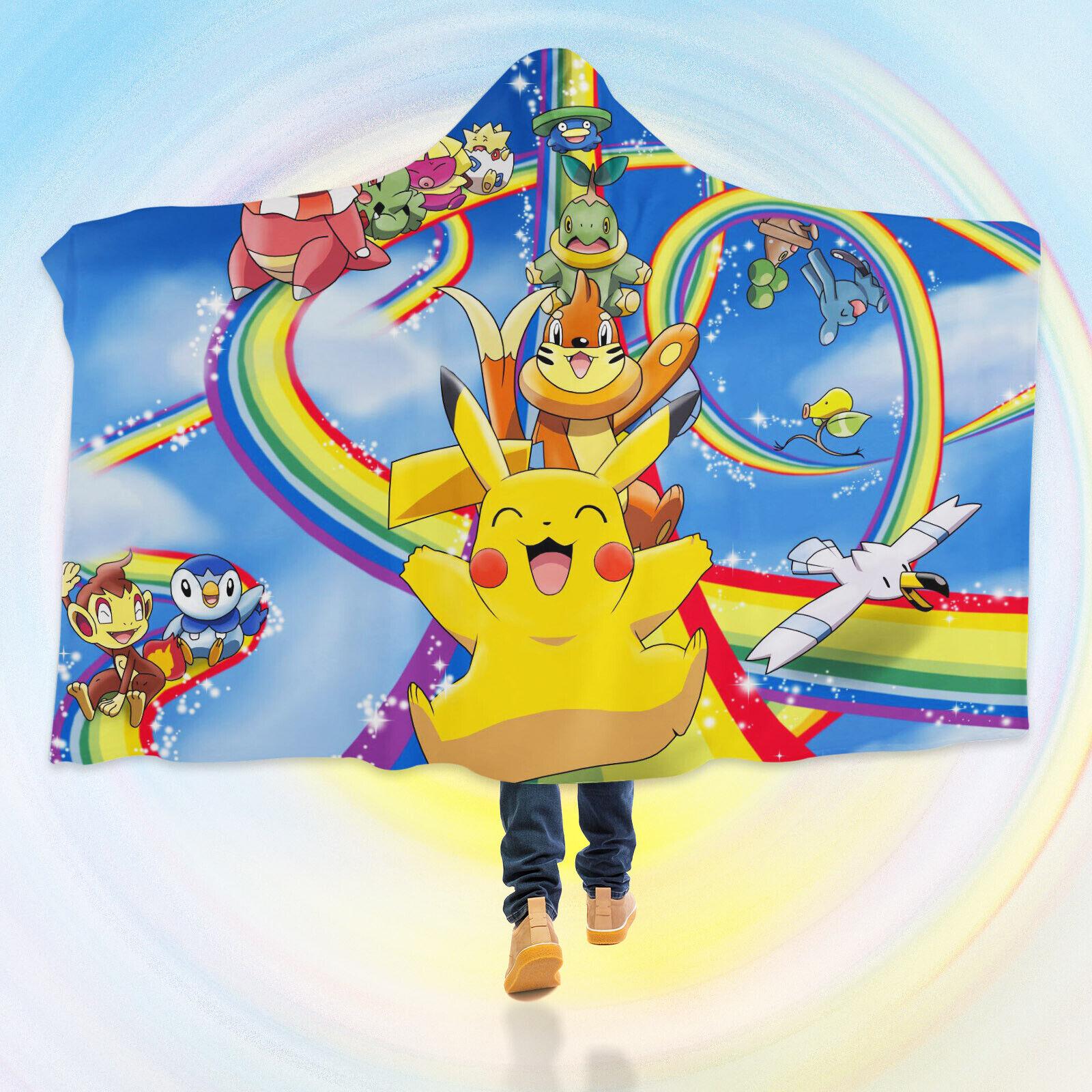 3D Hooded Blanket For Pokemon A29 Hooded Blanket Cloak Japan Anime Cosplay Zoe