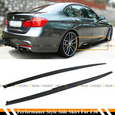 F80 M3 Style Side Skirts w// Performance Extension For BMW F30 F31 3-Series 12-18