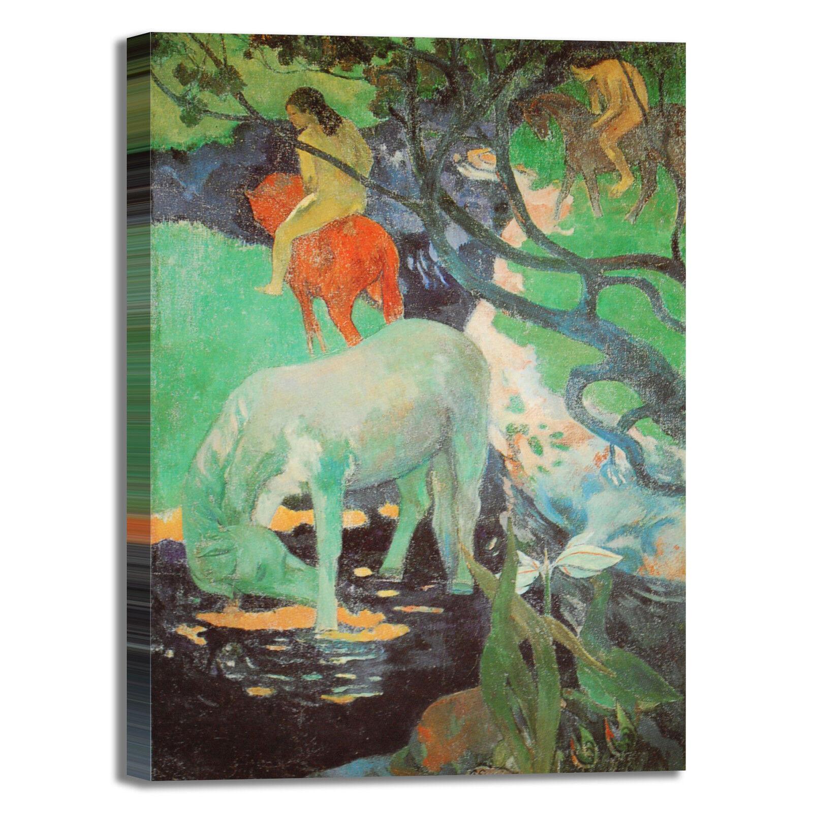Gauguin bianco cavallo bianco Gauguin design quadro stampa tela dipinto telaio arRouge o casa 672747