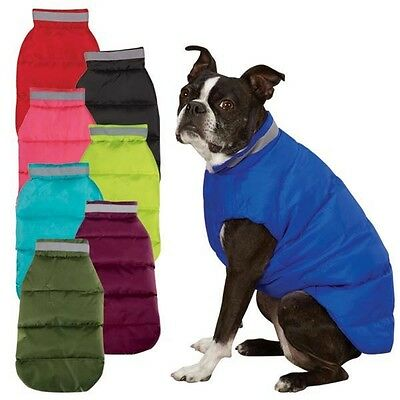 NORTH PAW PUFFY VEST Dog Coat Jacket ALL SIZES Warm Water Repellent Reflective