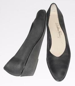 SALVATORE-FERRAGAMO-LIGHTWEIGHT-LOW-WEDGE-CAREER-OFFICE-CASUAL-SHOES-9-3A