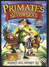 PRIMATES OF THE SEVEN SEAS~2012 RARE VG/C ANIMATED DVD~MONKEY SEA.  MONKEY DO.