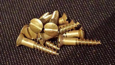 10 Holzschrauben Alu DIN95 3,5x20 Aluminium goldfarben eloxiert Modellbau Antik
