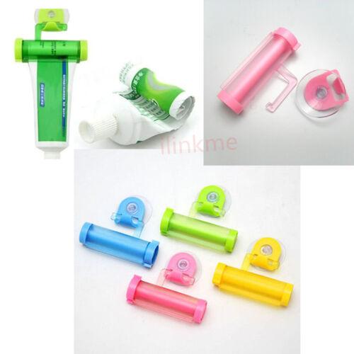 Cute Rolling Squeezer Toothpaste Dispenser Tube Partner Sucker Hanging Holder IL