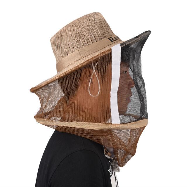 Neu Bienenzucht Schleier Imkereibedarf Bienenschutz Imker Hut Kopfschutz#NEU