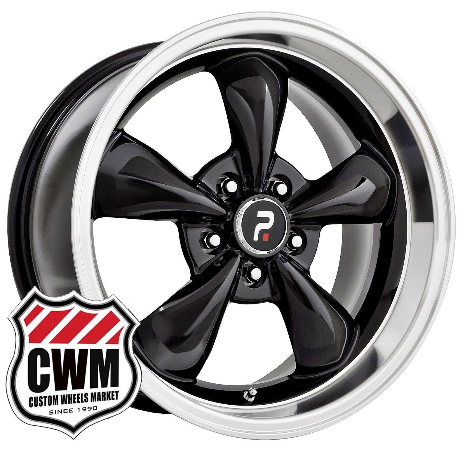 18x9 18x10 OE Performance 106b Bullitt Mustang Black Wheels Rims