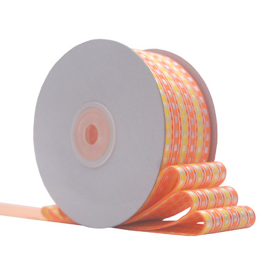 Craft Use Floral Wrapping 1.5in 25YD Summer Tone Dots Stripe Ribbon for Gift