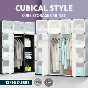 DIY-12-16-Cube-Storage-Cabinet-Compartment-Wardrobe-Shoe-Rack-Shelf-Portable