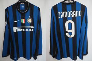 61367605513c7 2009-2010 Inter Milan Jersey Shirt Maglia Home PIRELLI CL UCL L/S ...