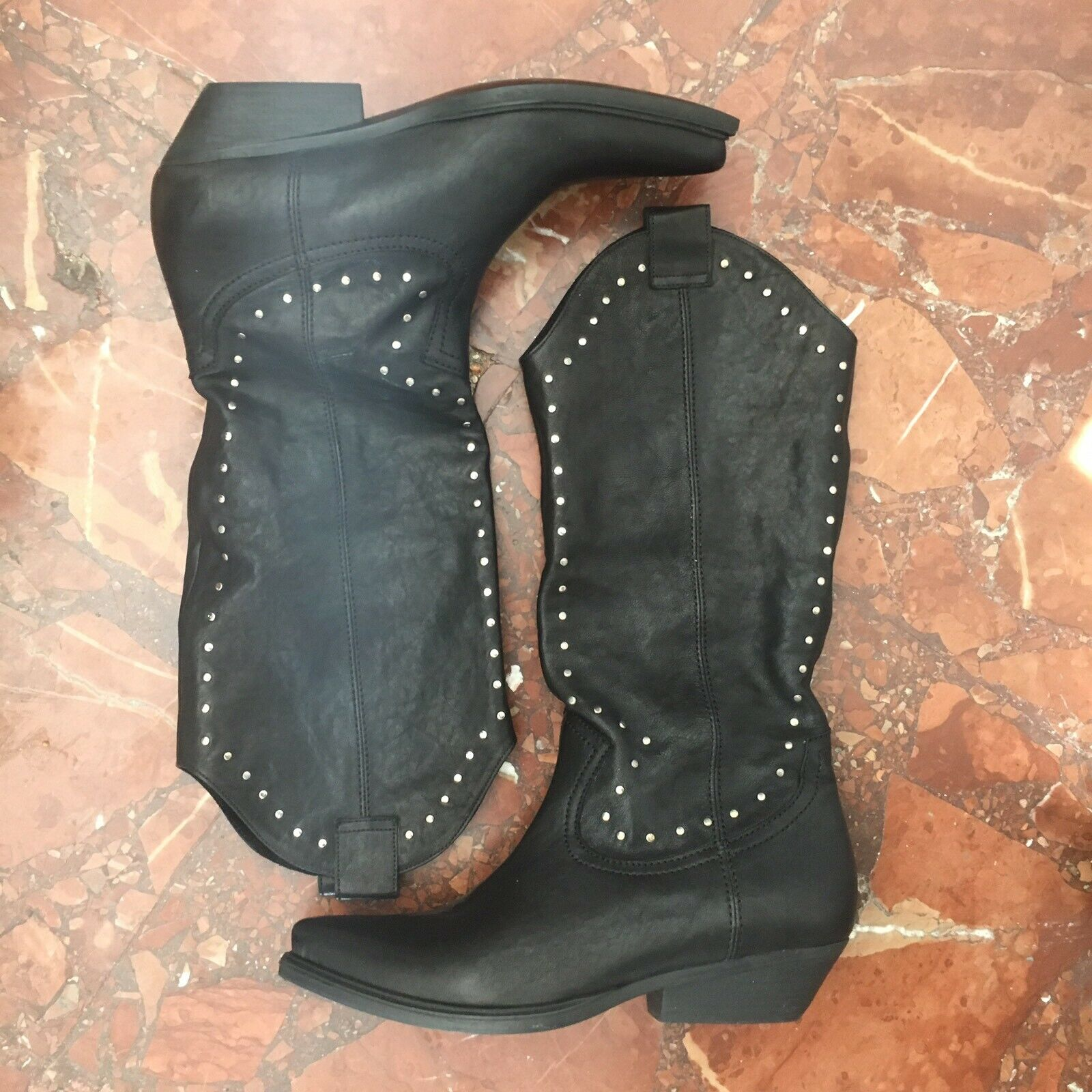 Vic Matie Real Leather Texan stivali, 37, Brand New