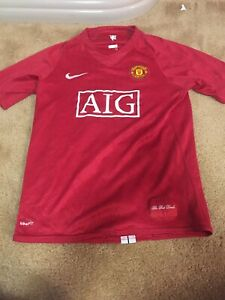 cheap for discount 1f48f f4cea Details about Nike Fit AIG Manchester United Rooney 11 Jersey Children's XL  FREE SHIPPING