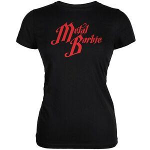 Metal Barbie Black Juniors Soft T Shirt Ebay