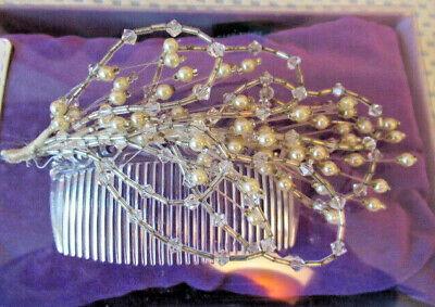 Romantico Vintage Da Sposa Copricapo Capelli Pettine Finta Perla E Diamante-mostra Il Titolo Originale
