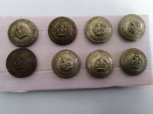 OBSOLETE-POLICE-Buttons-x-8-Nottinghamshire-Large-25mm-used