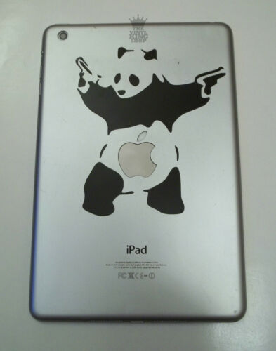 Vinyl Sticker for iPad Mini graffiti fighting gun panda 1 x Banksy Panda Decal