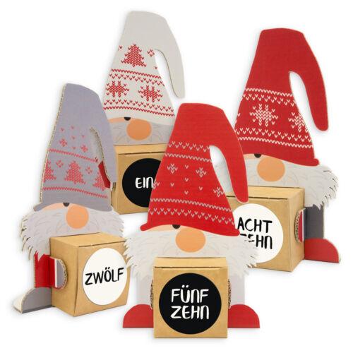 itenga Wichtelbande Geschenkverpackung Weihnachten Geldgeschenk Adventskalender