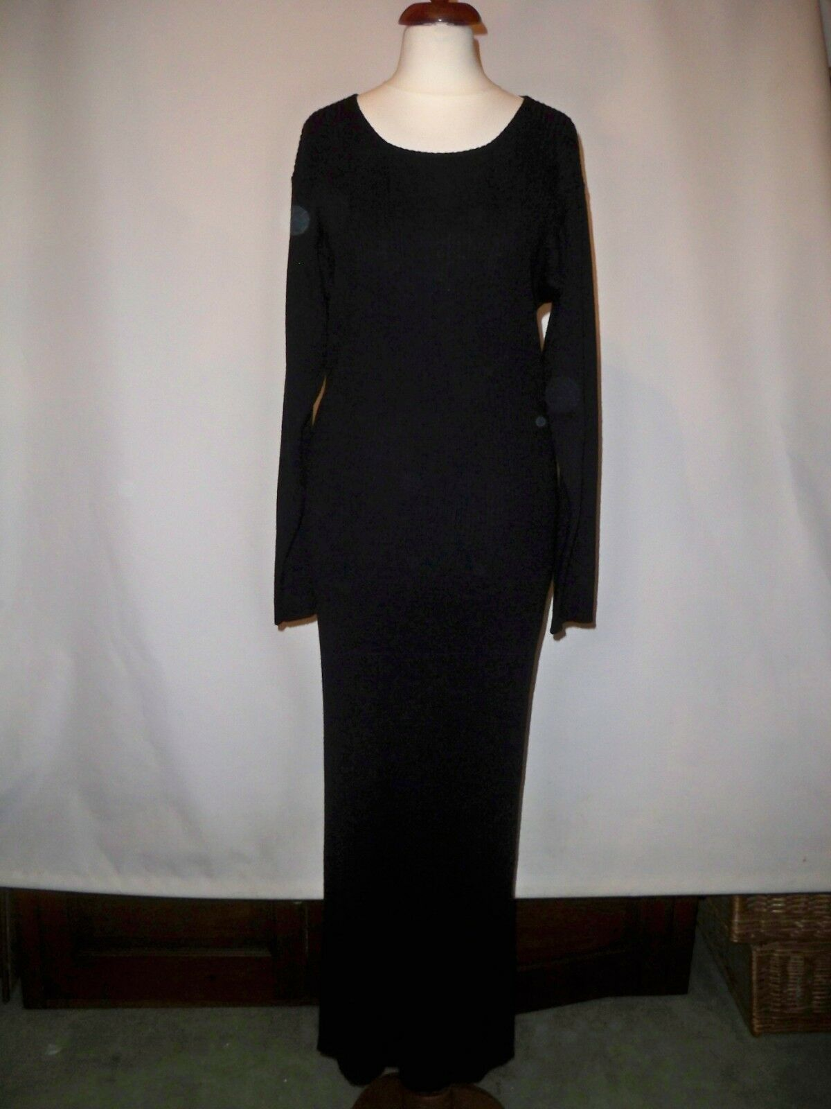WOOLF FULL  LENGTH RIBBED WOOL BLEND DRESS   Größe  UK 10  12