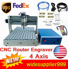 New Listing4 Axis 3040t Cnc 400wrouter Engraver 3d Engraving Drilling Machine Usb Rc Sale