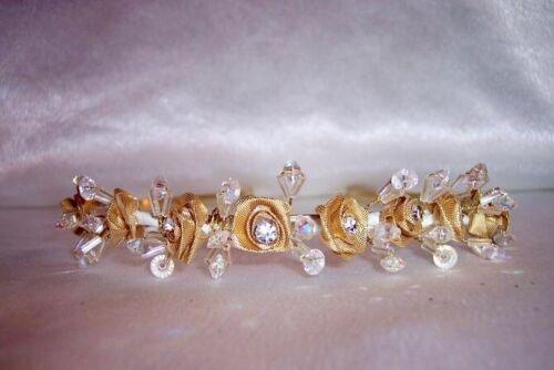 Diamante Seta Rosa e Perline Tiara damigelle d/'onore Prom sposa molti colori