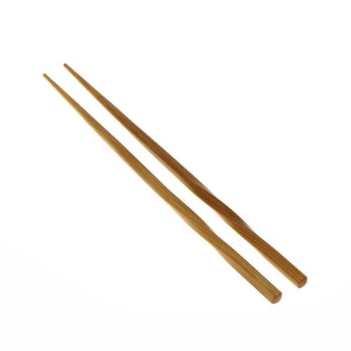 1 pair Natural Wavy Wood Chopsticks Chinese Chop Sticks Reusable Food XJ