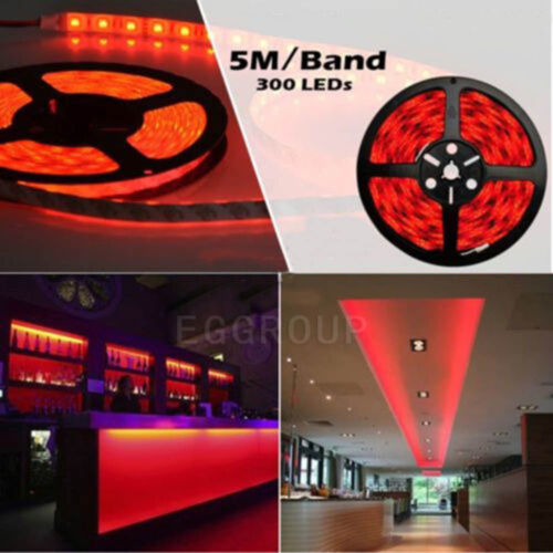 Full Kit Set 5M 300LED SMD 3528//5050//5630 RGB Flexible Strip Light//Remote//Power