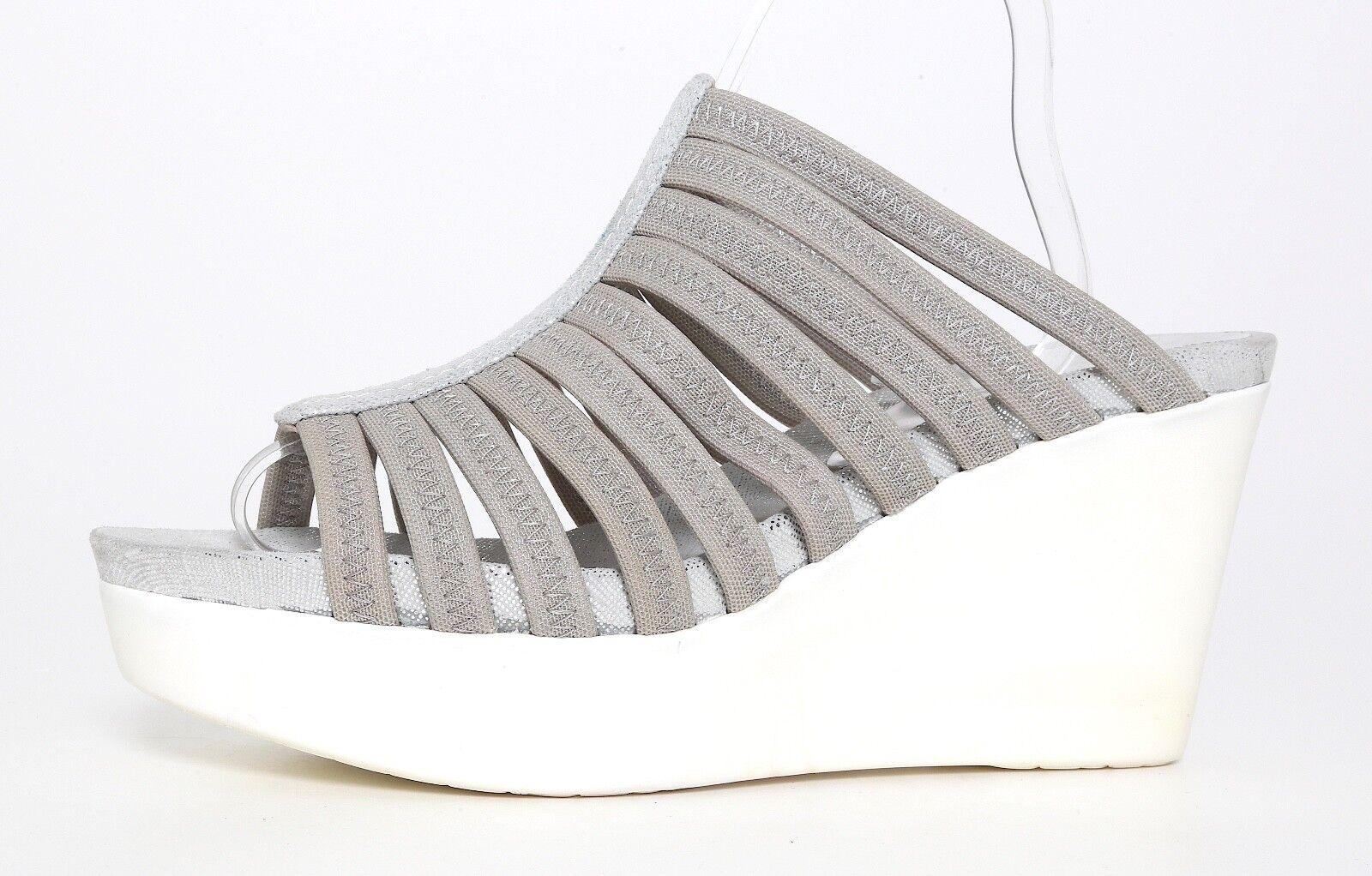 Donald J Pliner Jackie Caged Wedge Platform Sandal Grigio Donna Sz 9.5M 1200