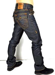 06fde19b True Religion $329 Men's Ricky Straight Super T Raw Denim Jeans ...