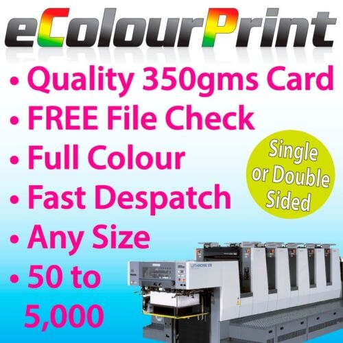A6 A5 350gms Card Flyers // Leaflets Printed colour on Gloss A3 A7 or DL A4