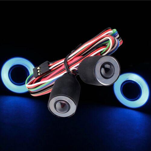 LED Headlight Lights Angel Eyes for Jeep Wrangler Rubicon Body 1//10 Axial SCX10