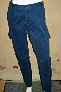 565dabfd3bea82 Détails sur SISLEY Taille 44 Slim Fit NEUF ETIQUETTE Superbe pantalon homme  bleu chino