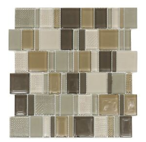 Image Is Loading Decor8 Gl Mosaic Tile 300x300x8mm Textured Amp Smooth