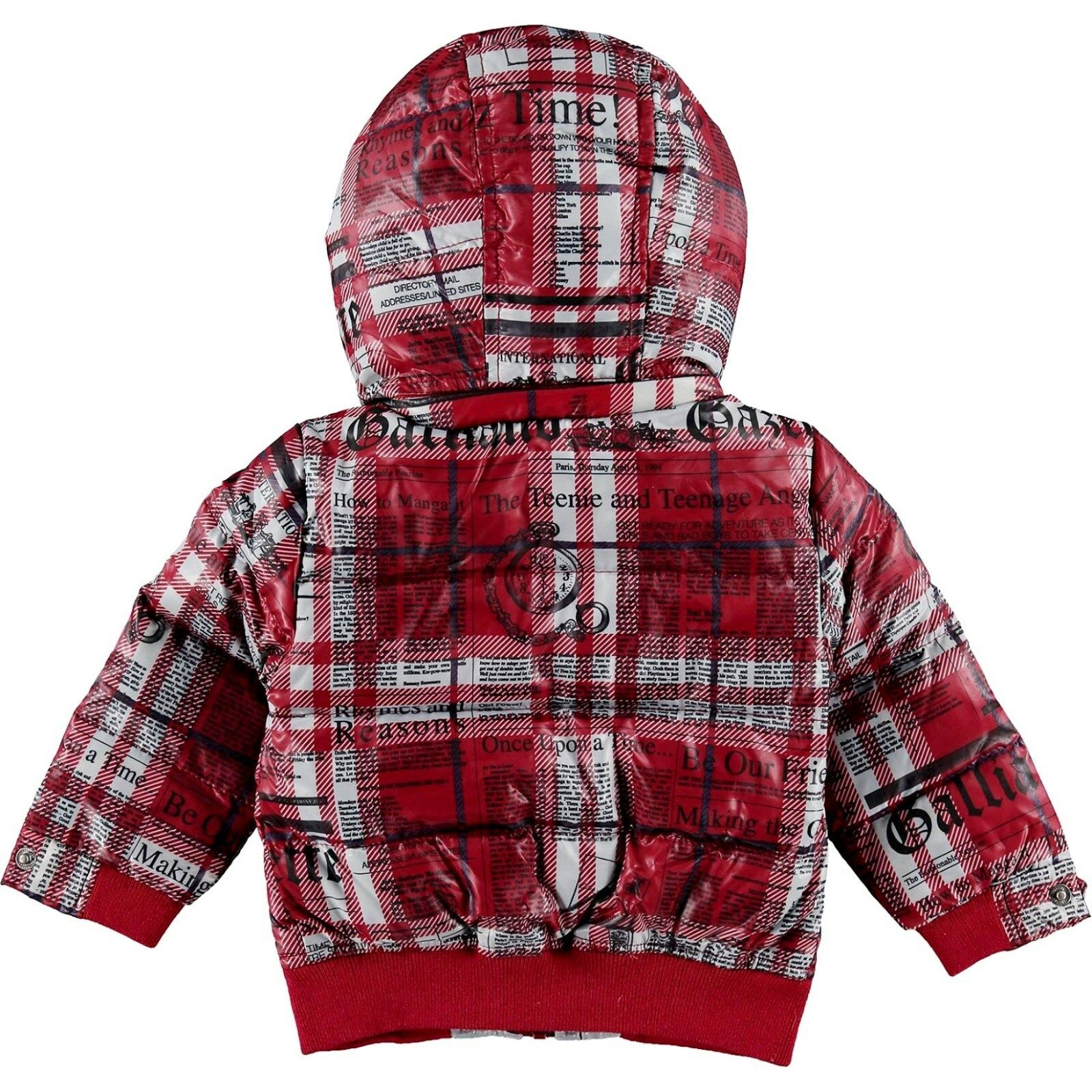 e4b1fb09d346 John Galliano Baby Boy Duck Down Insulated Jacket Storm Hood 6 9m ...