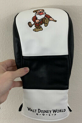 Rare Walt Disney World Golf Grumpy Snow Whitw Leather Rescue Hybrid Head Cover Ebay