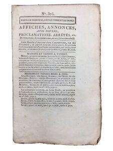 Bavay-en-1803-Archeologie-Gallo-Romaine-Fouille-Lambiez-Feuille-de-Douai
