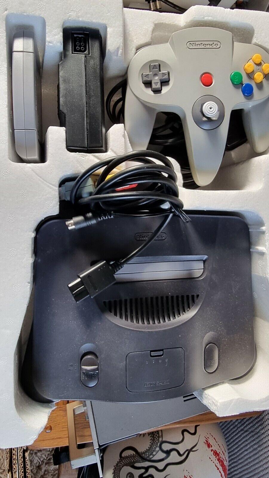 Nintendo 64 N64 Goldeneye Bundle Complete Console Setup Game, Controller UK PAL