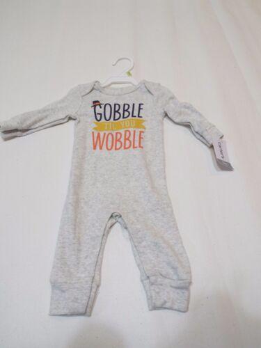 Carter/'s Baby Gobble Til You Wobble Jumpsuit Collectible Bodysuit 3 6 month