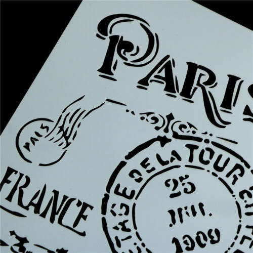 retro paris layering stencils for walls painting scrapbooking stamp album decor\
