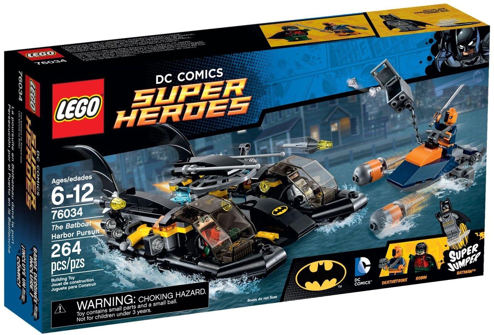Dans Lego Poursuite Course Heroes Les Super Batboat Le Port 76034 Dc POkXn08w