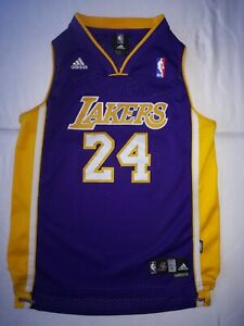Details about Kobe Bryant Lakers Jersey Adidas Youth Size L (14-16) Length 2 #24 Sewn RARE