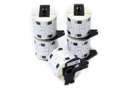 5 ROLLEN ETIKETTEN 62x29mm STANDARD für BROTHER P-touch QL-500BW