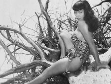 Bettie Page Nude Sit on Floor w//Fan B//W 18 x 24 Poster FREE SHIPPING #1018