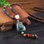 Lange-Halskette-Nepal-Boho-Anhaenger-Retro-Vintage-Holz-Handgefertigt-Perlen Indexbild 8