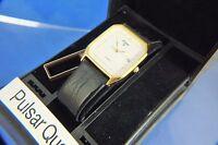 Vintage Pulsar Quartz Gents Watch Circa 1980s Old Stock Original Box