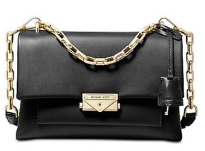7df4fe665f4d 🌺🌹Michael Kors Cece Chain Medium Shoulder Bag Black-Gold Retail ...